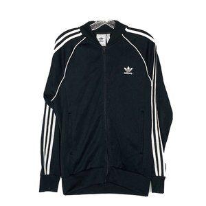 Adidas Mens Track Jacket M Black White Windbreaker